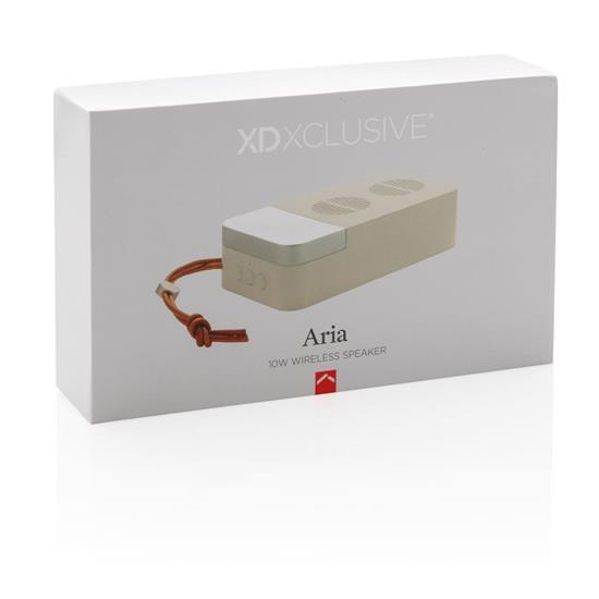 Högtalare Aria 10W trådlös  med tryck Vit