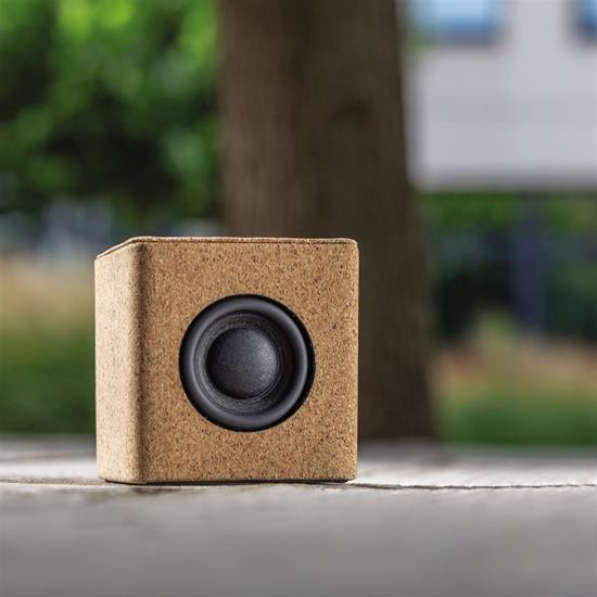 Högtalare Kork 3W Bluetooth® med tryck Brun