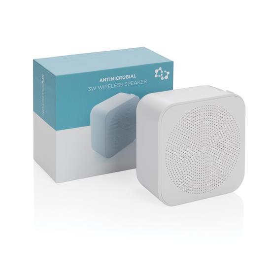 Högtalare Biomaster 3W Bluetooth® antimikrobiell med tryck Vit