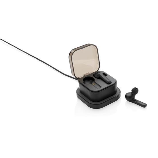 Öronsnäckor TWS Bluetooth®  med tryck Svart