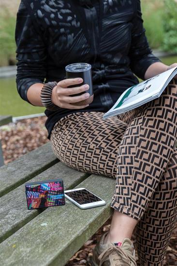 Högtalare 3W Bluetooth® med egen framsida med tryck Svart