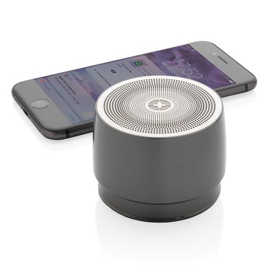 Högtalare Swiss Peak Bas 5W Bluetooth® med tryck Grå
