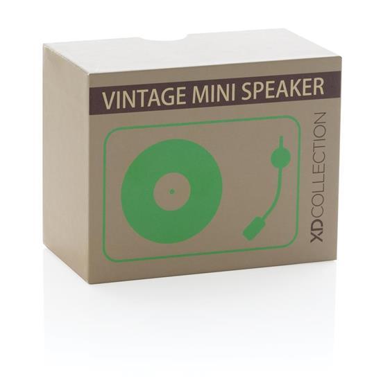 Högtalare Mini vintage 3W trådlös med tryck Grön