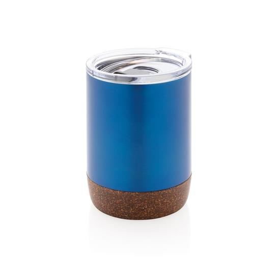 Termusmugg Kork 180ml med tryck Blå