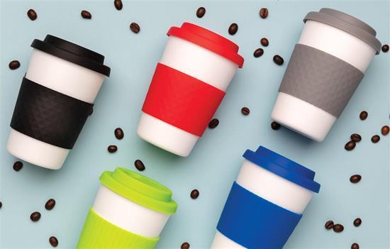Take-Away Kaffe 270ml med grepp med tryck Grön
