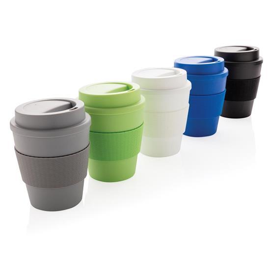 Take-Away Kaffe 350ml med skruvlock med tryck Grön