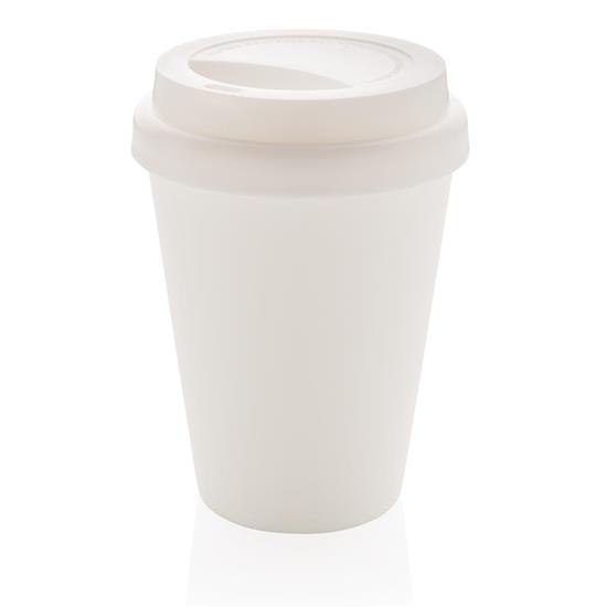 Take-Away Kaffe 300ml isolerad med tryck Vit