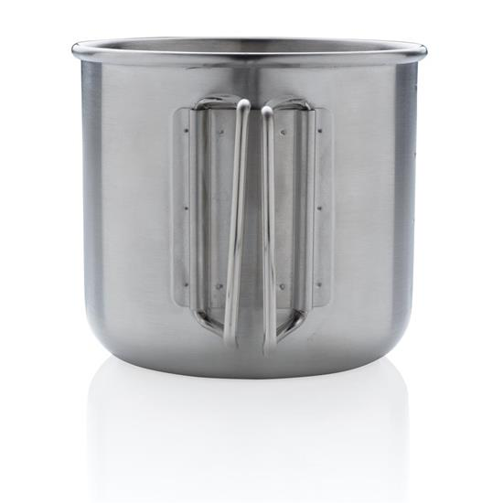 Metallmugg Explorer med tryck Silver