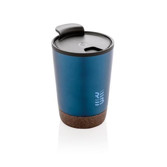 Termosmugg Kork 300ml med tryck Blå