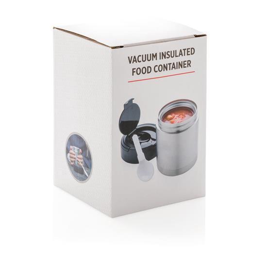 Mat Termos Vakuum 350ml med tryck Silver