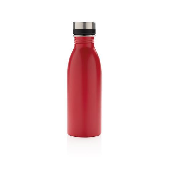 Metallflaska Lyx 500ml med tryck Röd