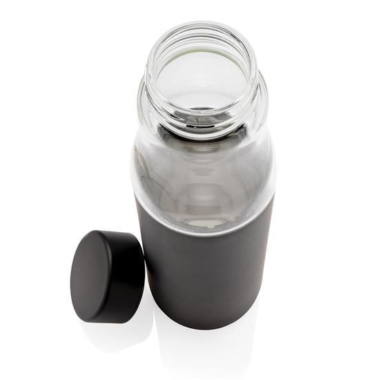 Termosflaska Hybrid 500ml i glas med tryck Svart