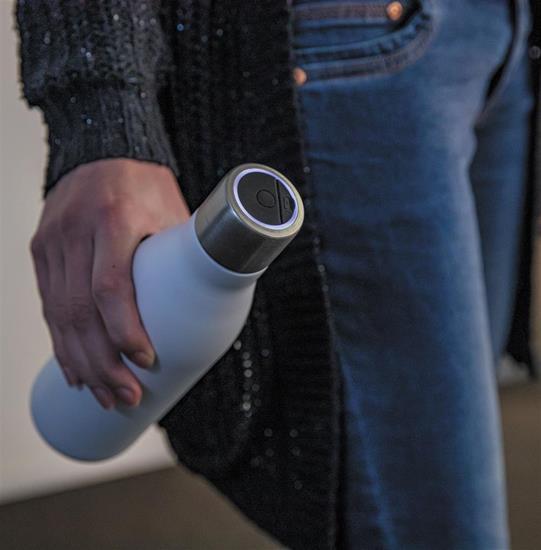 Vakuumflaska UV-C steriliserings S/S 500ml med tryck Vit