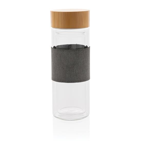 Termosmugg Impact 360ml i borosilikatglasflaska med tryck Vit