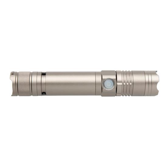 Ficklampa 3W uppladdningsbar med tryck Grå