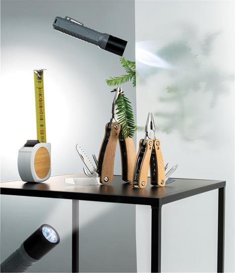 Ficklampa Lättvikt 3W LED stor med tryck Grå