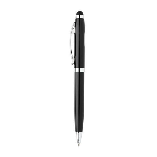 Touchpenna med COB lampa med tryck Svart