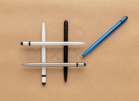 Penna Kat Aluminium tunn med tryck Blå