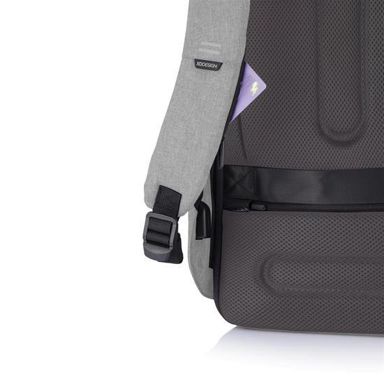 Bobby Hero Spring, anti-ficktjuv ryggsäck, grå med tryck Grå