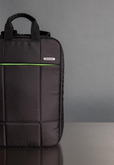 """Laptopväska Soho RPET 15.6"""" med tryck Svart"""