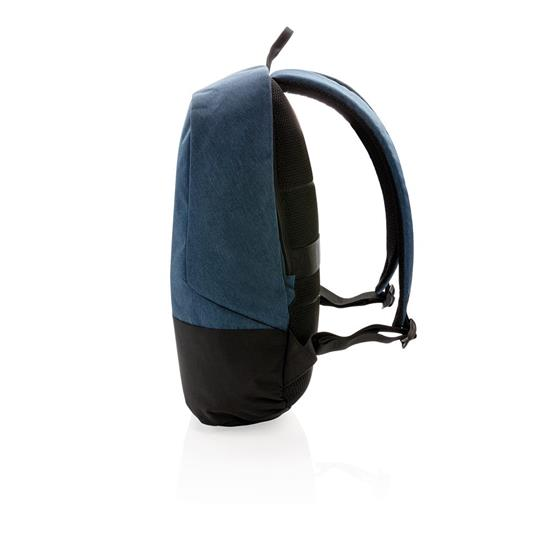 """Ryggsäck Standard RFID anti-ficktjuv 15.6"""" med tryck Blå"""