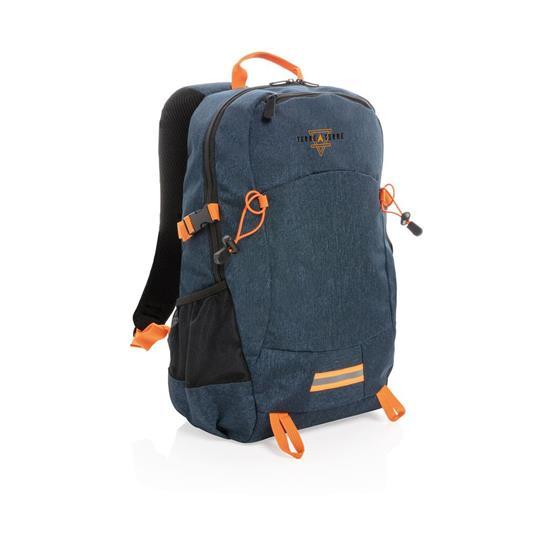 Ryggsäck Outdoor 24L med tryck Blå