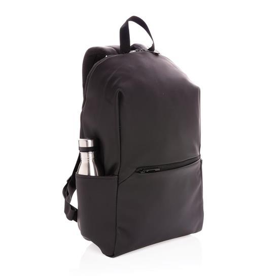 "Laptopryggsäck PU 15.6"" med tryck Svart"