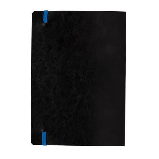 Anteckningsbok Flexibel Deluxe A5 färgade kantsidor med tryck Blå
