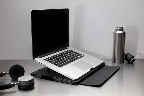 Laptopfodral Fiko 2-i-1 arbetsstation med tryck Svart