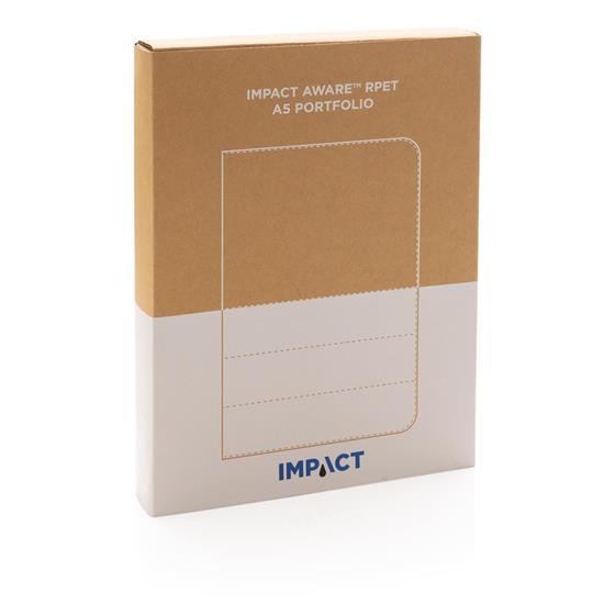 Portfolio Impact AWARE RPET A5 med tryck Blyertsgrå