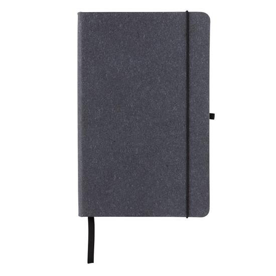 Anteckningsbok Hardcover A5 i återvunnet läder med tryck Grå