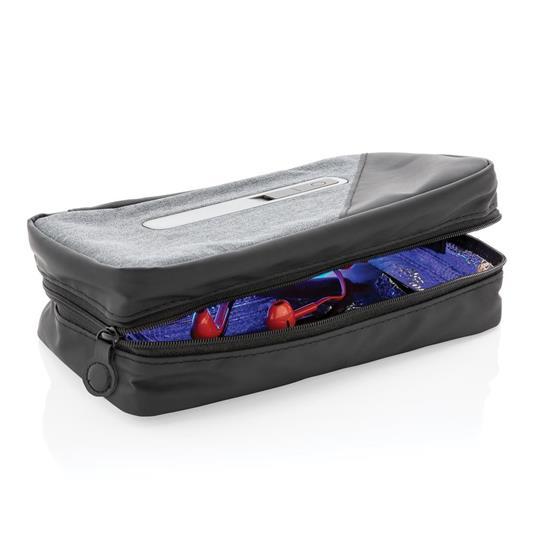 Fodral Bärbart UV-C sterilisering med integrerat batteri med tryck Grå