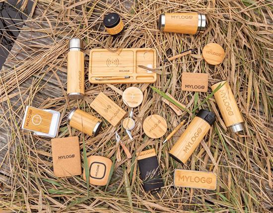 Passfodral RFID ekologisk med tryck Brun