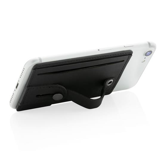3-i-1 RFID korthållare med tryck Svart