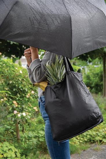"""21"""" Paraply med shoppingkasse med tryck Svart"""