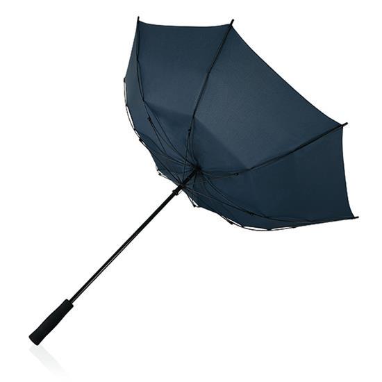 """23"""" stormparaply fiberglas med tryck Marinblå"""