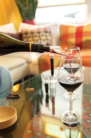 Vinset Vino Connoisseur 4 delar med tryck Silver