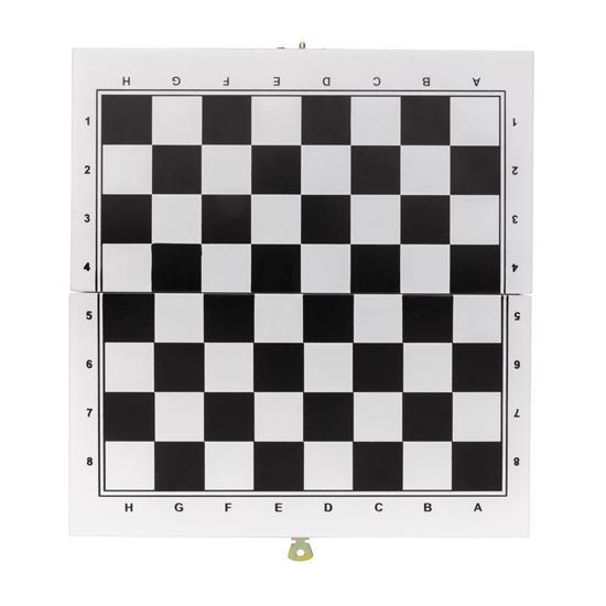 Brädspel set 3-i-1 i trälåda med tryck Vit