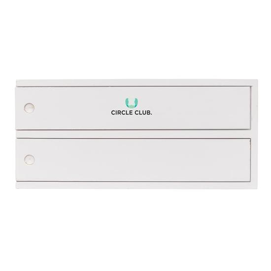 Plockepinn / domino-set i trälåda med tryck Vit