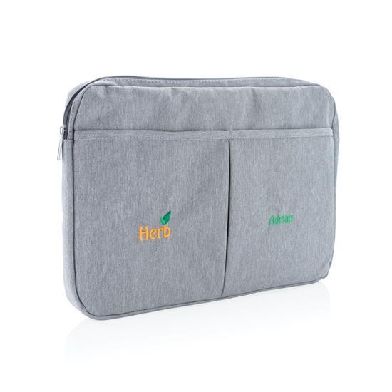 """Laptopfodral 15"""" med tryck Blyertsgrå"""