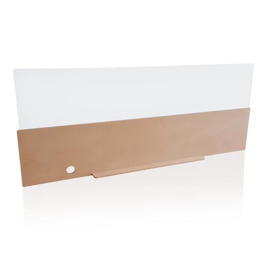 Skyddande skrivbordsskärm 160cm med tryck Brun