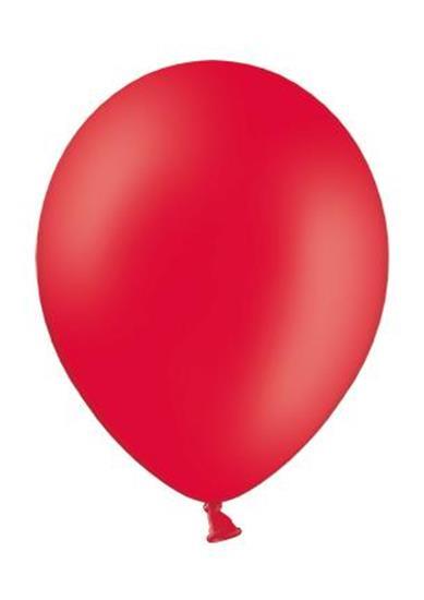 Reklamballong 27cmØ med tryck Röd
