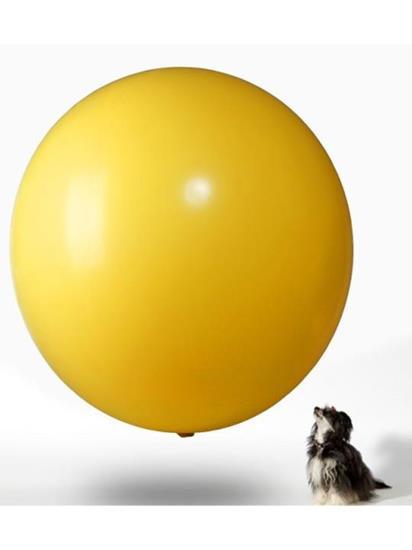 Jätteballong 120cmØ med tryck Gul