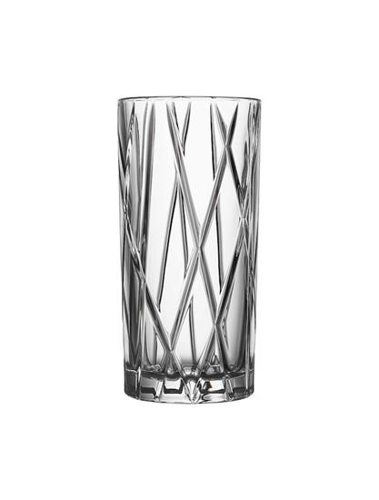 Orrefors CITY Highball 4st 37CL med tryck Transparent