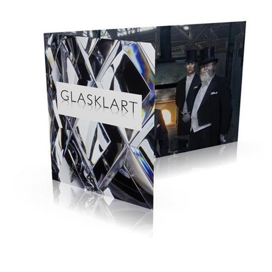 Gåvokort GLASKLART  360 med tryck Vit