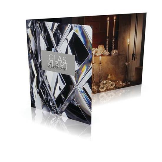 Gåvokort GLASKLART Exklusiv 1500 med tryck Vit