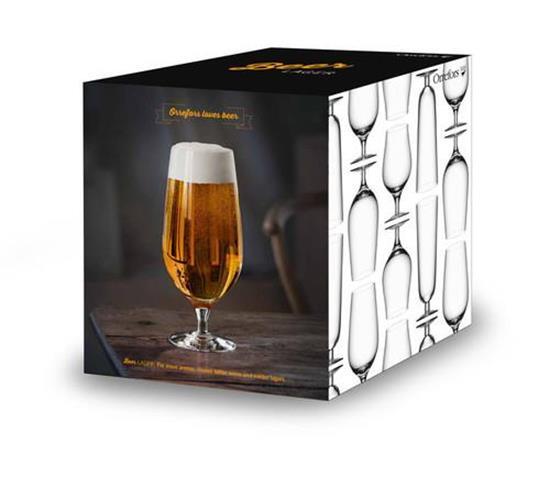 Orrefors BEER Lager 4st 60CL med tryck Transparent