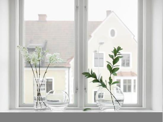 Orrefors GRAPHIC Vas med tryck Transparent