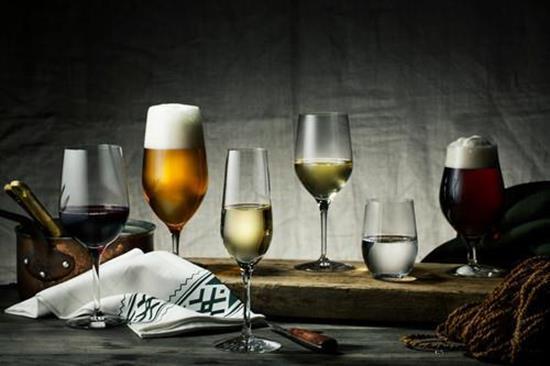 Orrefors MORBERG Collection Champagne 4st 24cl med tryck Transparent