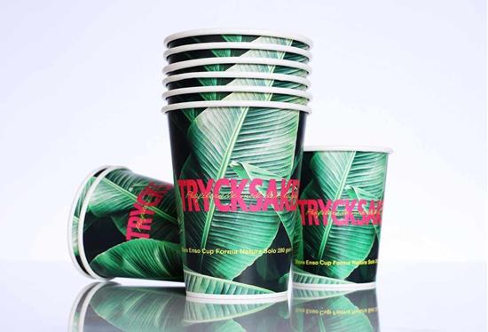 Pappersmuggar 350 ml EKO med tryck Vit